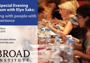Monday night special symposium with Dr. Elyn Saks